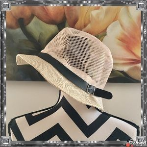 Accessories - Classic Natural Fedora Straw Hat